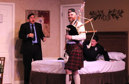 """The Off Broadway Palm Theatre presents """"Unnecessary Farce"""" through March 5."""