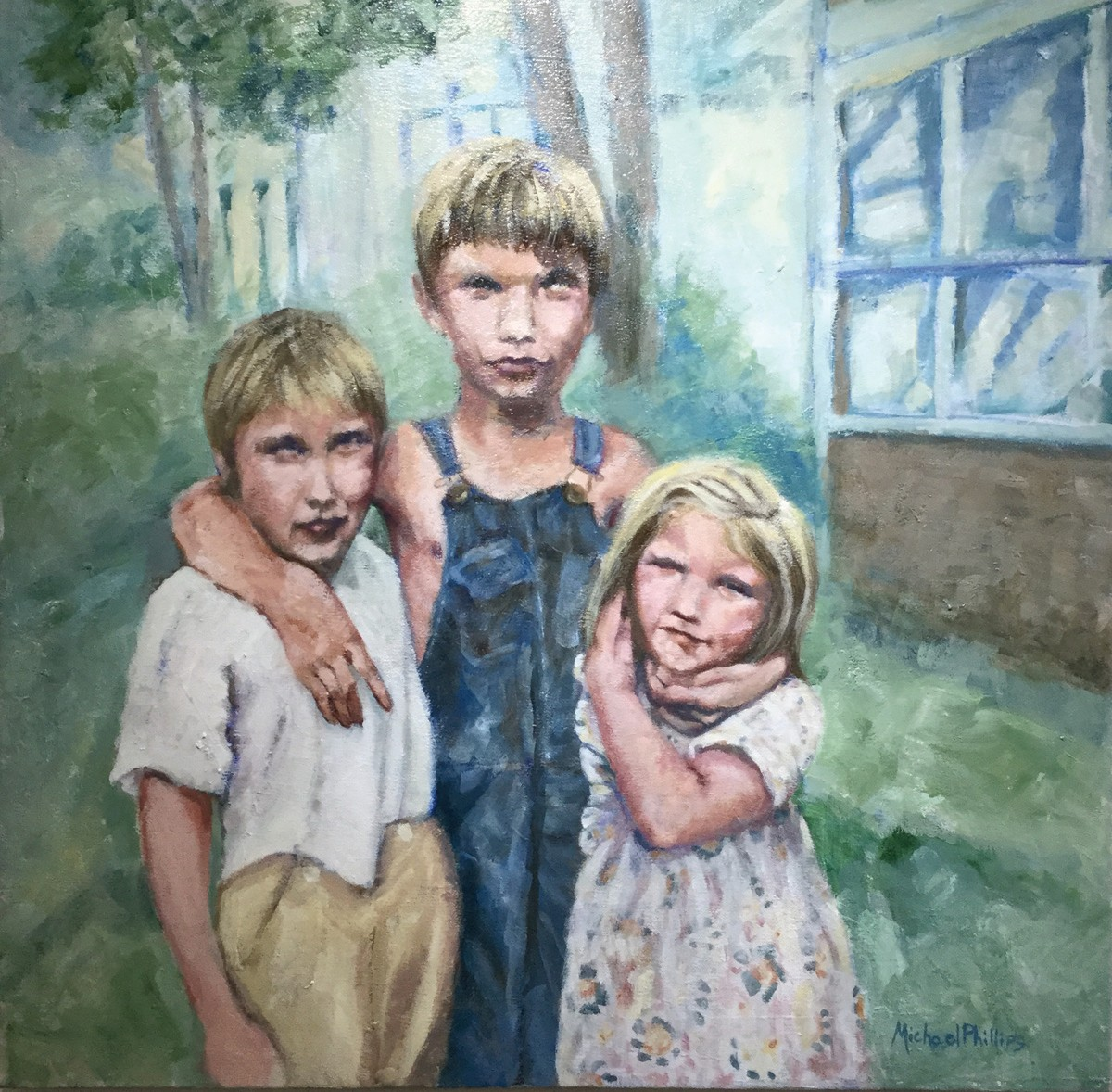 """Left: """"3 Amigos"""" by Michael J. Phillips"""