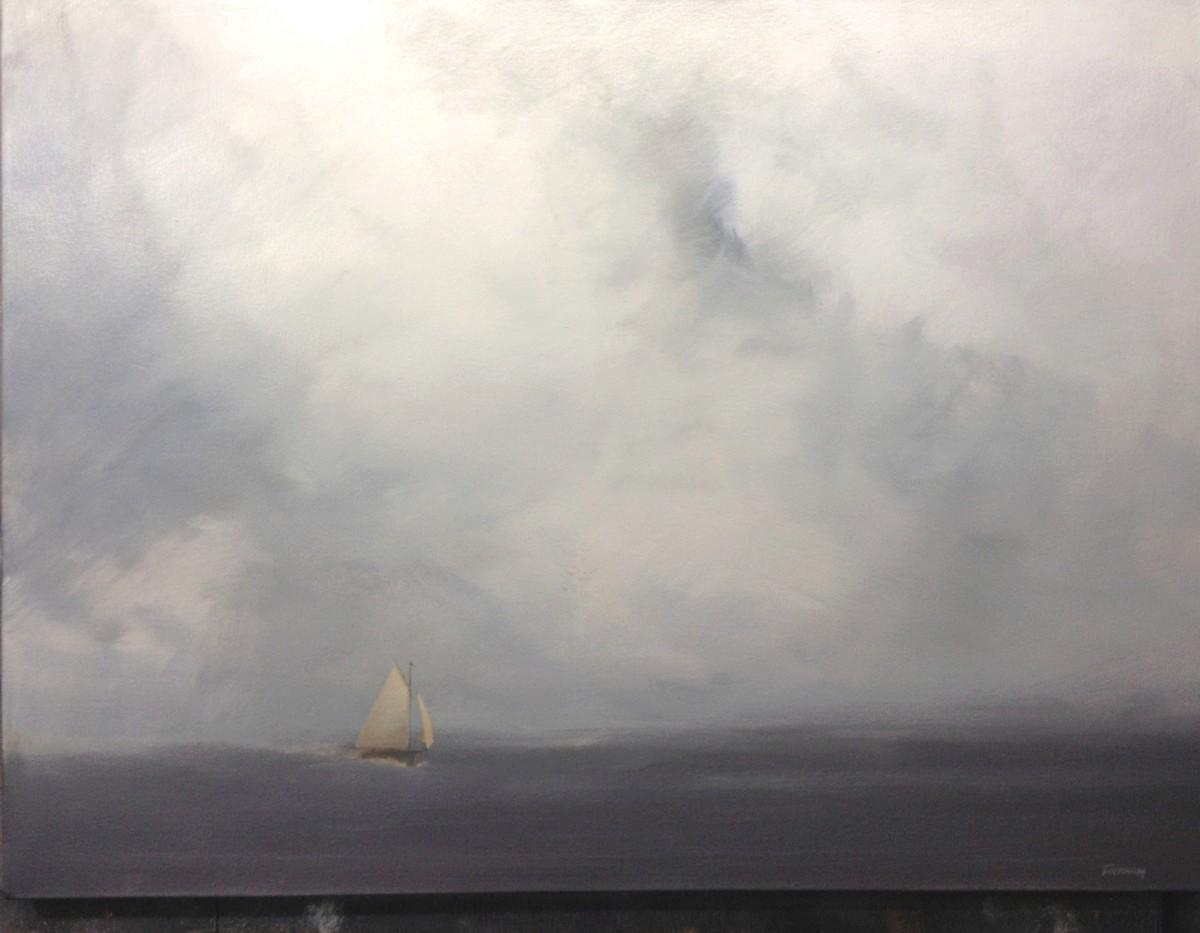 """Below: """"Single Sail"""" by A. D. Tinkham"""