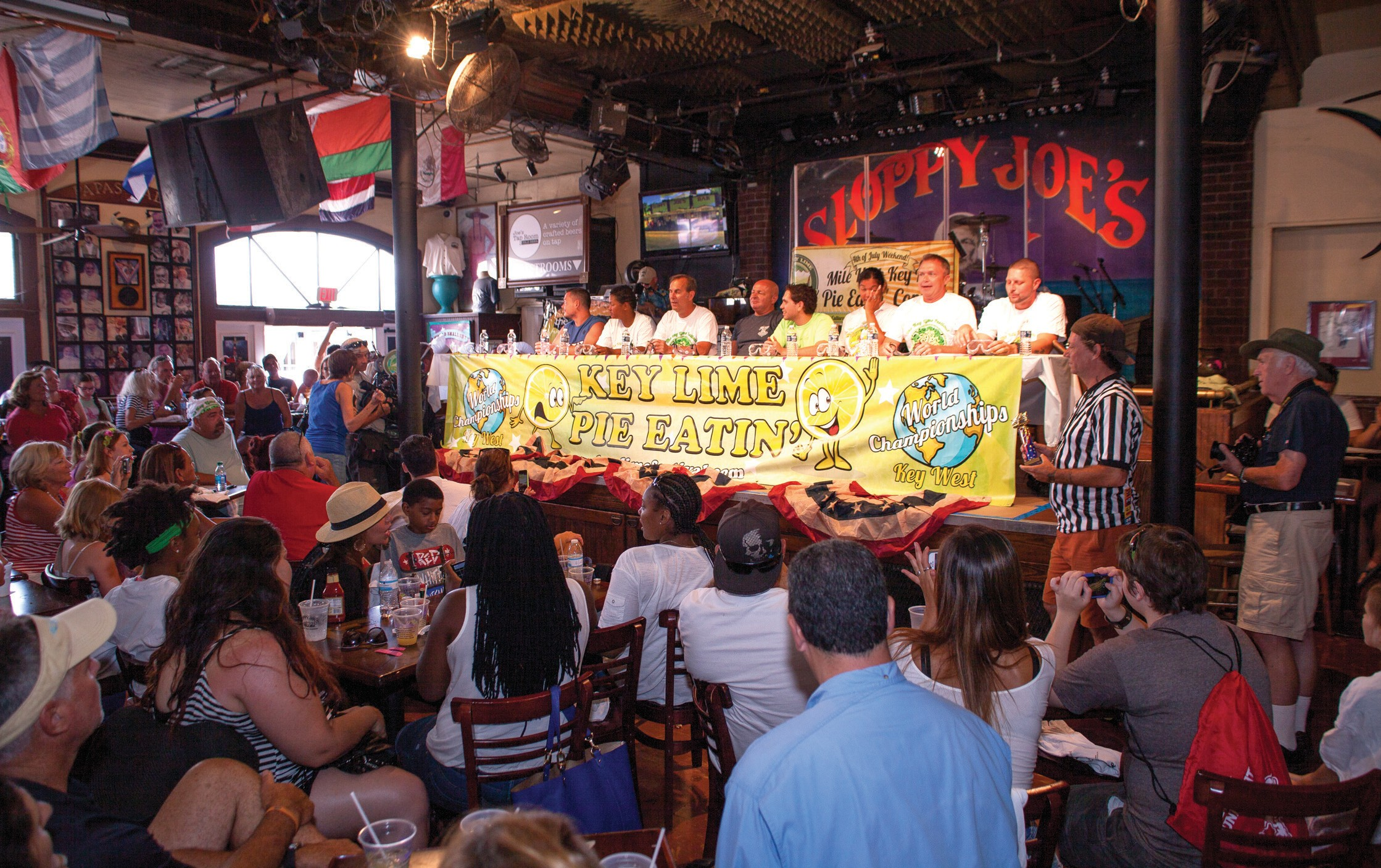 The pie-eating contest draws crowds and Key lime enthusiasts.