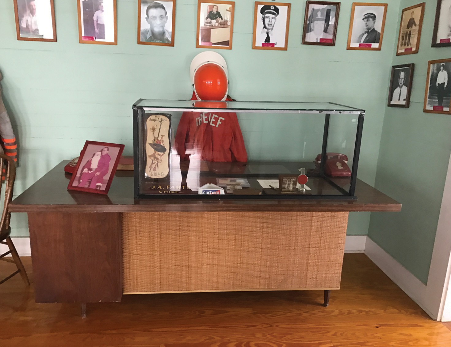Bum Farto's desk at the Key West Firehouse Museum.