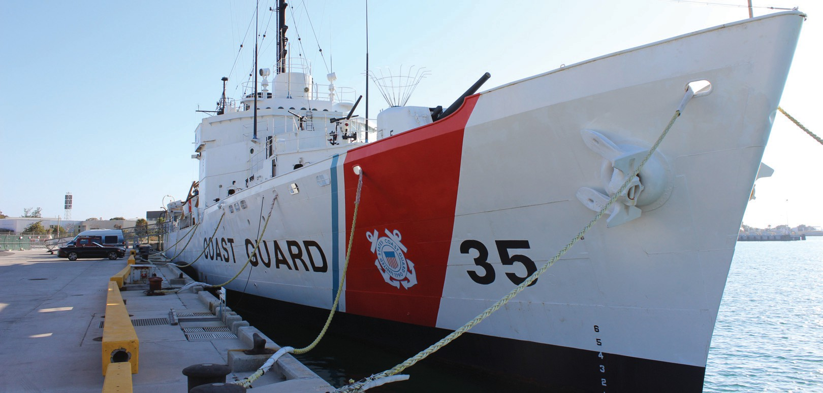 USCGC Ingham is docked at the Truman Waterfront.