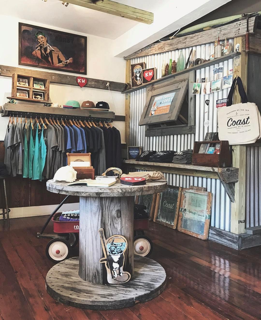 Inside the Coast store.