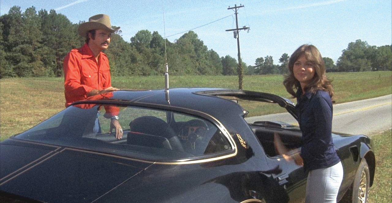 "Burt Reynolds and Sally Field in ""Smokey and the Bandit"" in 1977."
