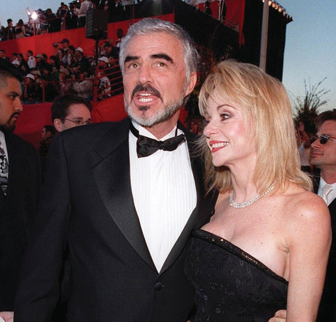 Burt Reynolds and girlfriend Pam Seals at the 70th Academy Awards.